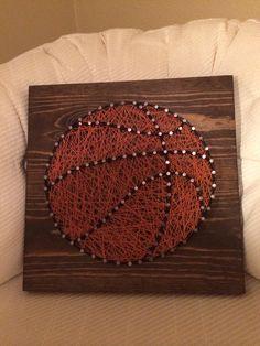Basketball sports string art - Order from KiwiStrings on Etsy ( www.KiwiStrings.etsy.com )
