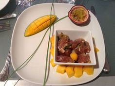 Recette Tartare de thon sur lit de mangue