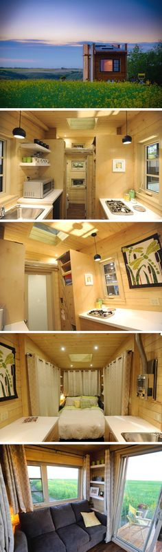 The Dragonfly: a 160 sq ft tiny house, currently available for sale for $57,278 USD