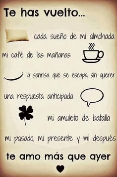 Frases de amor cortas y bonitas The Words, More Than Words, Frases Love, Quotes En Espanol, Frases Humor, Love Phrases, Spanish Quotes, Just Love, Potpourri