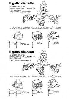 Disegni parole con lettera p italiano schede primo ciclo for Parole con ga go gu