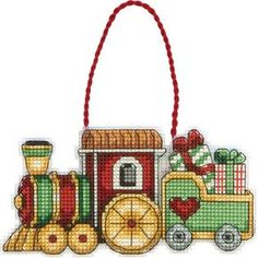 Cross Stitch Craze: Christmas Cross Stitch Ornaments Train
