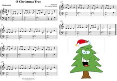 O CHRISTMAS TREE, CHRISTMAS SHEET MUSIC PRINTABLE