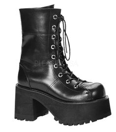 Shop a huge selection of Goth platform boots and punk boots for women. Our Gothic boots for women include platforms, heels, combat style, and much more! Black Platform Boots, High Heel Boots, Black Boots, Shoe Boots, Platform Shoes, High Heels, Black Heels, Heeled Boots, Womens Gothic Boots