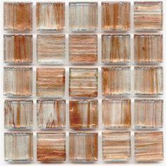 Honey 0.75 x 0.75 Glass Mosaic Tile