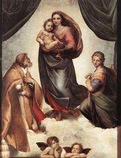 """""""La Madonna di San Sisto [Sistine Madonna]"""" Raffaello Sanzio; in situ: Gemäldegalerie Alte Meister, Dresden"""