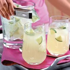 Use one cup of sugar if you plan to serve lemonade with a simple syrup. To extract the most juice from limes, microwave them at HIGH for about 15 seconds for this delicious limeade recipe.