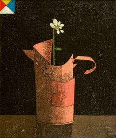Vaso de flor, década de 1960 Inos Corradin (Brasil, 1929) óleo sobre tela colada em eucatex, 37 x 32 cm