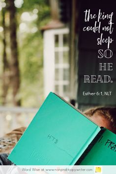 The Reading Remedy: #devotional for #writers based on Esther 6:1 with Word Wise at Nonprofit Copywriter #WritingTips #WritersBlock #FreelanceWriting Easy Writing, Start Writing, Blog Writing, Writing Tips, Scripture Verses, Bible, Words For Writers, Blog Websites, Research Skills