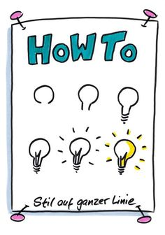Jamie saved to wohnzimmerAnleitung zum Glühbirne zeichnen, How To, Visuali. Learn Art, Learn To Draw, Doodle Lettering, Hand Lettering, Light Bulb Drawing, Bellet Journal, Visual Note Taking, Zentangle, Brochures