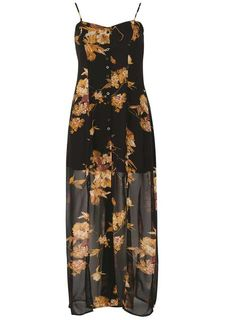 *Izabel London Black Floral Print Maxi Dress