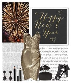 """""""Happy New Year to all my polyfriends!"""" by chrissy6 ❤ liked on Polyvore featuring moda, Thierry Mugler, Balmain, Alexander McQueen, Givenchy, Tom Ford e Clarins"""
