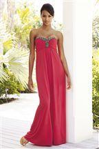 Coral Beaded Maxi Dress.
