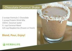 Herbalife Recipes, Herbalife Shake, Protein Drink Mix, Coconut Water, Recipe Collection, Smoothies, Raspberry, Frozen, Goodies