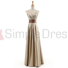 One-Shoulder Floor-length Satin Bridesmaid Dresses