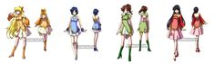 Kinmoku Fashion - Inner Senshi by *YoukaiYume on deviantART
