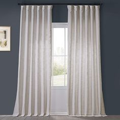 Amazon.com: HPD Half Price Drapes FHLCH-VET13191-108 Heavy Faux Linen Curtain (1 Panel), 50 X 108, Rice White: Furniture & Decor Curtains 1 Panel, Faux Silk Curtains, Room Darkening Curtains, Drapery Panels, Velvet Curtains, Linen Curtains, Pleated Curtains, West Elm Curtains, Country Curtains