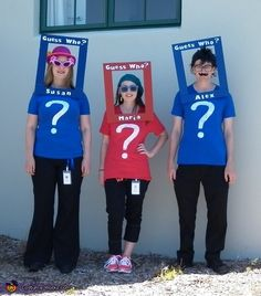 Guess Who Characters - Group Halloween Costume Idea