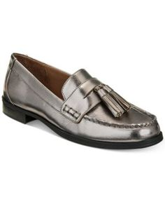 Giani Bernini Women's Mauwe Tassel Loafers, Created for Macy's - Silver 9.5M