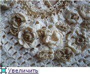 Gorgeous details on a crochet wedding dress.