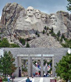 The visitors' center at Mount Rushmore has exhibits on the creation of the monument as well as the presidents whose faces are immortalized in granite. (Courtesy Kelly Martin/Wikimedia Commons) From: Your Picks for 15 Places Every Kid Should See.