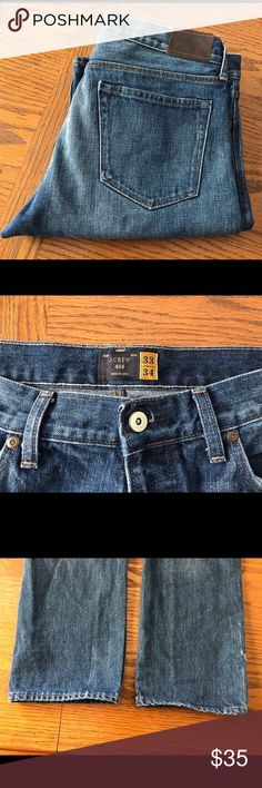 J Crew 484 Slim. 33x34 J Crew 484 Slim jean in indigo wash. Slim through the hip and thigh. Slim, not skinny. 33x34. J Crew Jeans Slim