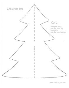 card sized paper christmas tree template pinterest christmas