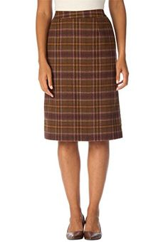 Fashion Bug Plus Size Wool Pencil Skirt www.fashionbug.us #PlusSize #FashionBug #Skirts