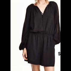 Black jumpsuit/romper.  New! Fits beautiful!! H&M Dresses