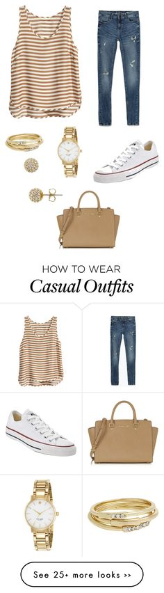 """""""Stripe tank - Casual"""" by brittjade on Polyvore"""