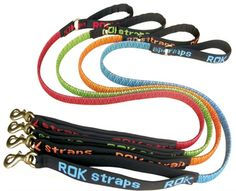 ROK Strap 3-in-1 is designed to absorb the shock from a dog pulling you on the other end. This is a leash, traffic lead (when you need your dog closer quickly), & a car restraint. Starting at $23.99