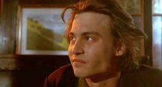 "Johnny Depp as Axel Blackmar in the movie ""Arizona Dream."""