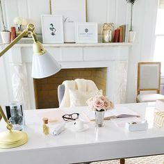 a pink and gold workspace with target | arianna belle | decorate