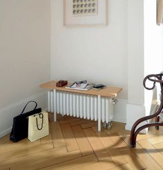 Traditional style bench-radiator. #Hallway #Practical Doubles up as a bench, great space saver! Good product for family homes. Zehnder Charleston Relax Multi Column Bench. Buy Traditional Radiators from UK Bathrooms www.ukbathrooms.com