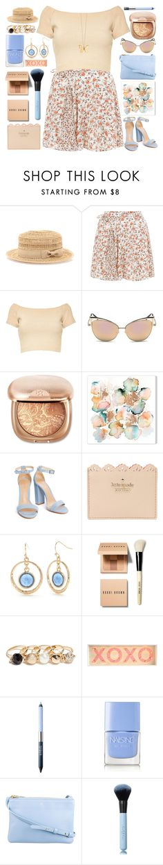 """""""Rose Gold Garden"""" by grozdana-v ❤ liked on Polyvore featuring Bebe, New Look, Alice + Olivia, Kate Spade, New Directions, Bobbi Brown Cosmetics, GUESS, Estée Lauder, Nails Inc. and CÉLINE"""