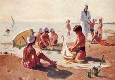 Богаевская Ольга Борисовна (Россия, 1915 - 2000) «На пляже» 1954