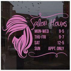 BEAUTY SALON Vinyl Decals  Custom Stickers Car Window - Hair stylist custom vinyl decals for car
