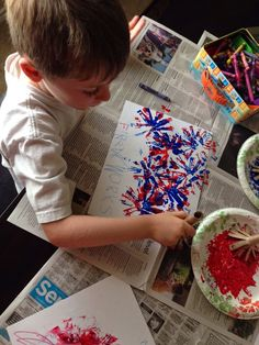 Firework Painting for Memorial Day