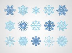 Snowflakes Vector (Free) | Free Vector Archive