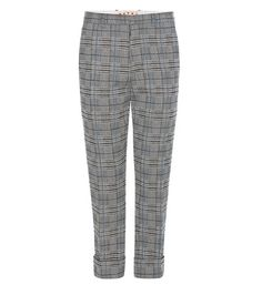 Marni Plaid Knitted Wool-blend Trousers For Spring-Summer 2017