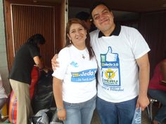 "Lideresa peruposibilista Hilda Chaccha y Freddie Armando Romero en ""Toledo 2.0: Voto seguro, voto por Toledo"". (2011)"