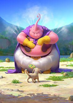 Dragon Ball Z inspired fan art by Juan Frigeri Buu Dragon Ball Gt, Photo Dragon, Majin Boo, Manga Dragon, Japon Illustration, Z Arts, Image Manga, Fanarts Anime, Animes Wallpapers