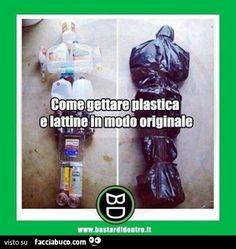 Come gettare plastica e lattine in modo originale