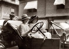 "The Misses Go Motoring  ""Miss Powell and Miss Sands"" circa 1910"
