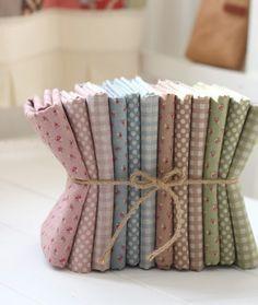 Checks, polka dots, and tiny floral cotton linens.