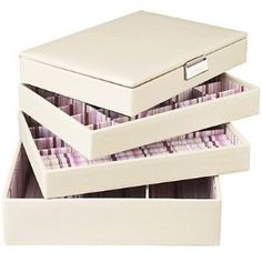 Stackers Cream Jewellery Box Set Includes all 4 Stacker Trays as Shown: Amazon.co.uk: Kitchen & Home