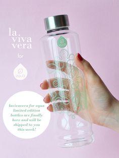 Lavivavera for EQUA bottles are finally here #lavivaveraforequa #waterbottle #glassbottle #pattern #green