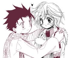 "The little blonde blinked and blushed as his best friends,and crush, wrapped part of his scarf around him. ""Kuro-tan? What are you doing?"" He asked."