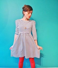 Nautical Knit Dress by Tilly Buttons | Project | Sewing / Dresses | Kollabora