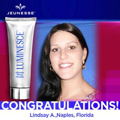 Share to congratulate this week's Free Masque Monday winner, Lindsay! Check back often for your chance to win your favorite products from #Jeunesse!